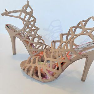 Madden girl gladiator heels in Tan